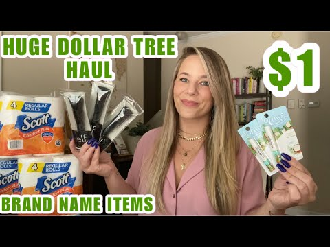 HUGE NEW DOLLAR TREE HAUL+AMAZING FINDS+BRAND NAME ITEMS