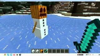 Как сделать снежного человека в MineCraft(Советы по компьютерным играм. Секреты, читы, коды и прохождения. Понравилось видео? Нажми лайк!, 2014-08-16T17:39:08.000Z)