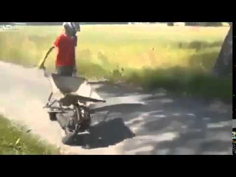 Splitter nya moped skottkärra - YouTube VX-41