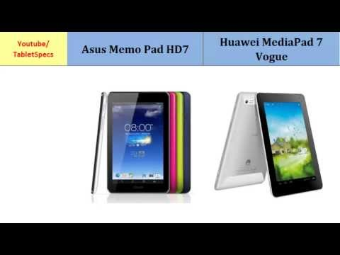 Asus Memo Pad HD7 to Huawei MediaPad 7 Vogue, features spec