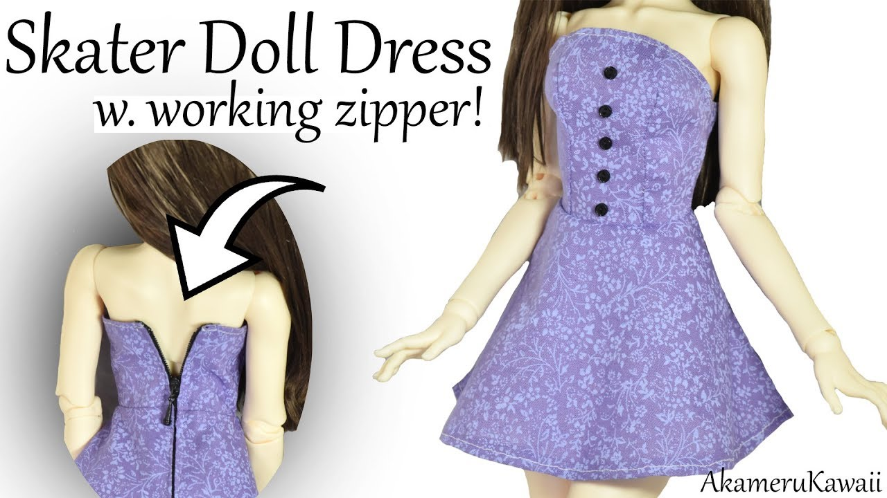 Doll Dress Metal Zipper Repair for Ball Jointed Doll Clothes DIY Supplies