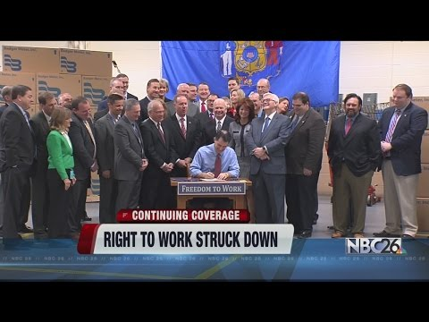 Right to Work Law is ruled unconstitutional