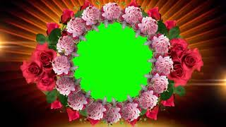 Kreis-Animation Blume Frame Grün Video-Hintergrund | DMX-HD-BG 360