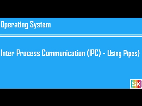 Process Management- Part-F (Process Inter Process Communication (IPC) - Using Pipes)