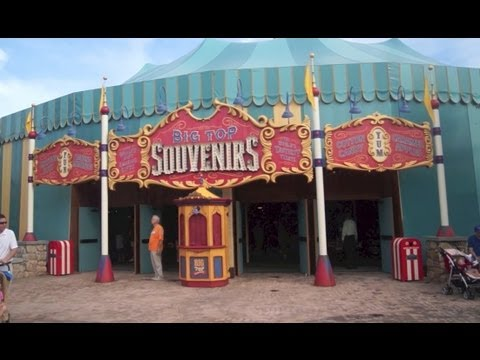 Tour of Big Top Souvenirs at Storybook Circus, New Fantasyland, Disney Magic Kingdom