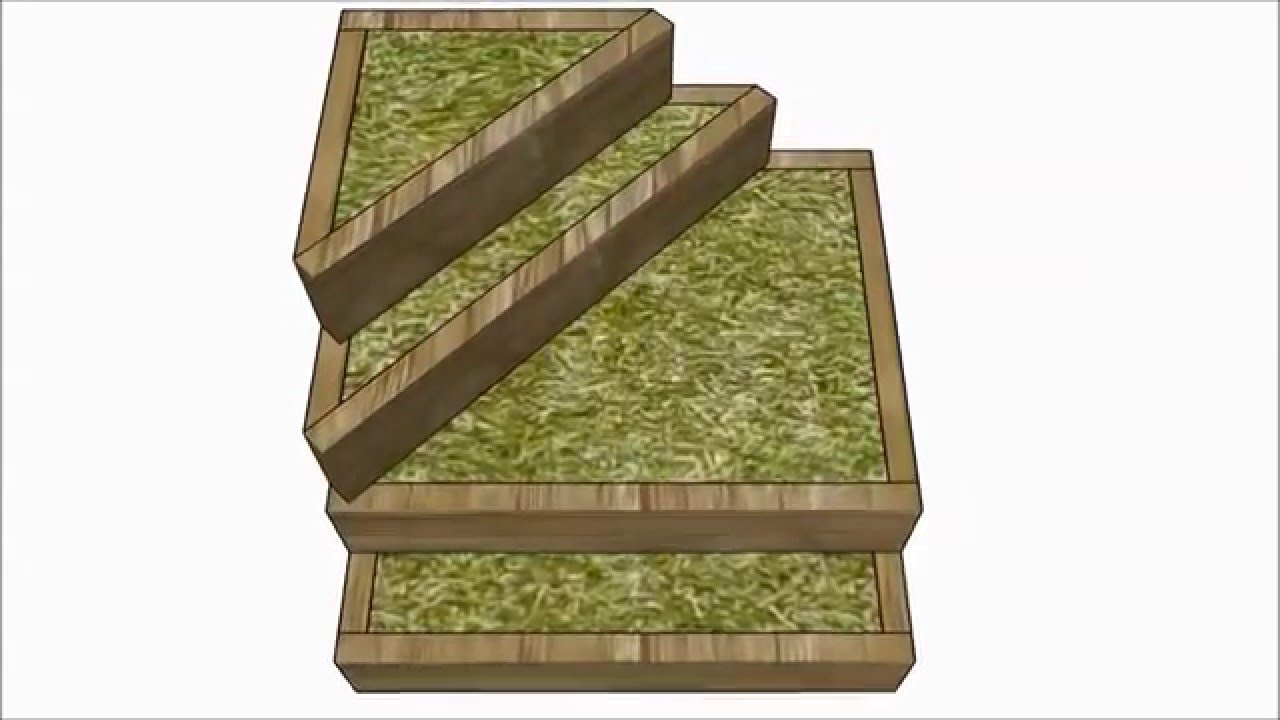Tiered Raised Garden Bed Plans Youtube