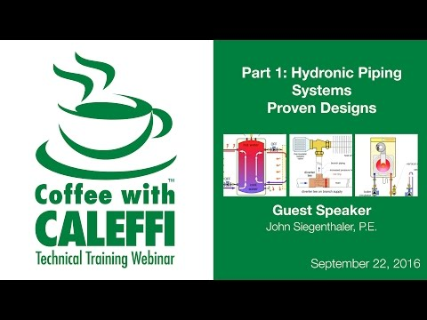 Hydronic Piping Systems Proven Designs (Part 1)