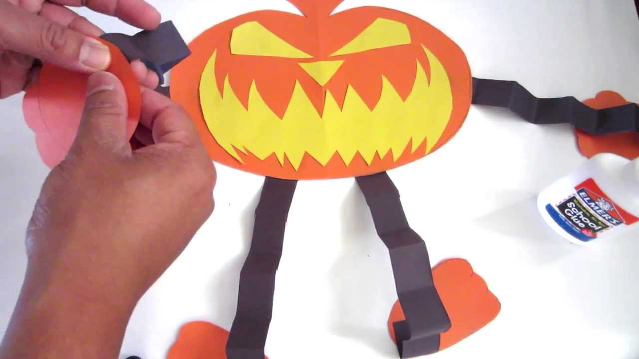 how to make the best halloween pumpkin out of paper lana3lw youtube