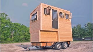 Tiny House With 4 Levels and Greenhouse Roof