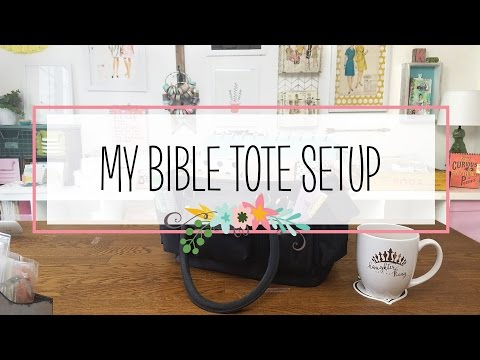 My Essentials: What's In My Bible Tote (Bible Study, Journal And Planner Supplies)