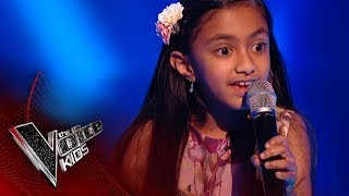 Leah performs 'Part of Your World': Blinds 1 | The Voice Kids UK 2017