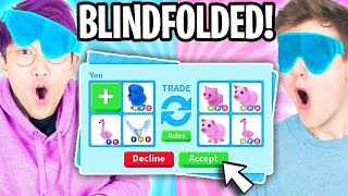 Can We Beat The BLINDFOLDED TRADE CHALLENGE In ADOPT ME?! (LOST OUR DREAM PETS!?)