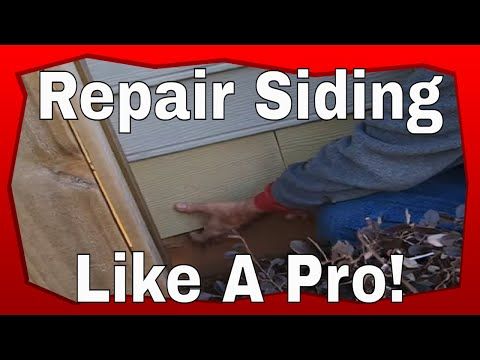 How To Repair Siding Youtube
