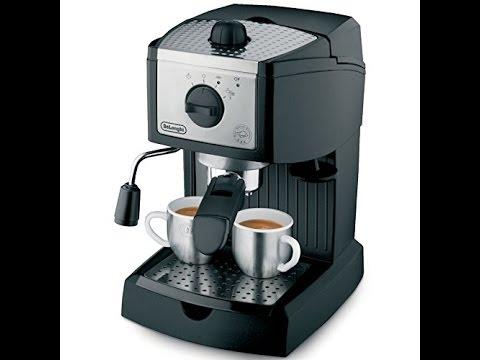 Delonghi Coffee Maker Stopped Working : Review: De Longhi EC155 15 BAR Pump Espresso and Cappuccino Maker - YouTube