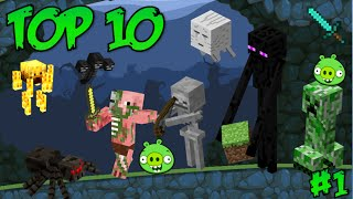 Top 10: Minecraft Mobs in Bad Piggies - Part 1