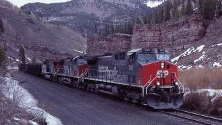 39600 of GE AC horse power, lifts a train toward D&RGW