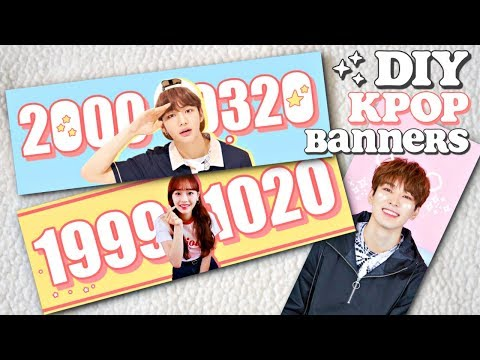 DIY KPOP Banners! (Stray Kids, LOONA, Etc.)