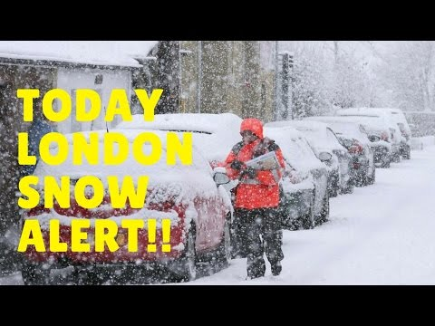 [Today] London Snow Alert - Travel Network 'could be crippled' by Snow Forecast