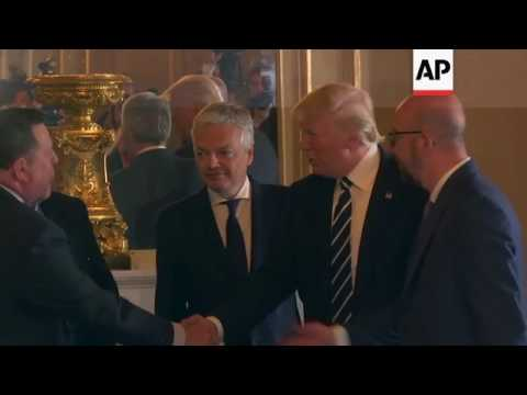 Belgium Royals Welcome Trump And First Lady