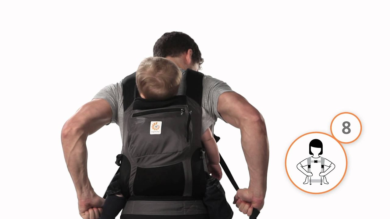 How Do I Back Carry In The Ergobaby Carrier Youtube