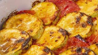 Три продукта 20 минут и ваш ужин готов. Кабачки с помидорами и рисом.