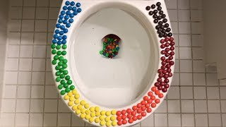 Will it Flush? - Rainbow M&M's