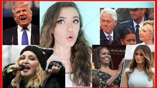 Awkward Moments during Trump Inauguration Reaction -Donald Trump, Michelle Obama, Hillary Clinton
