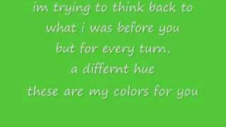 Colors Jordin Sparks With Lyrics