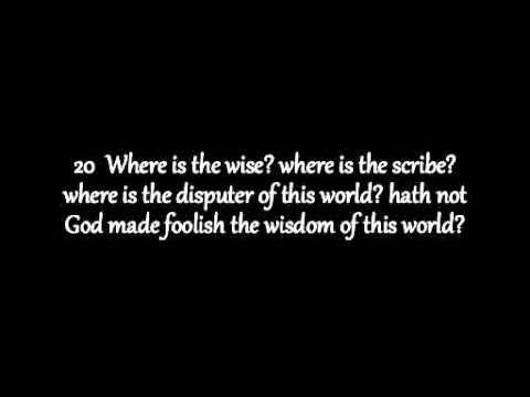 1st Corinthians Chapter 1 KJV AV Read Along