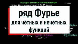 13.3. Ряд Фурье для четных и нечетных функций