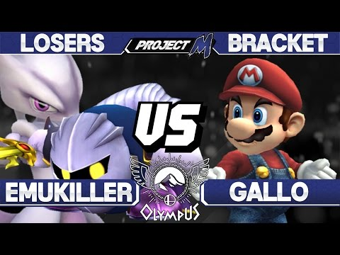 Olympus - Emukiller (Mewtwo/Meta Knight) vs Gallo (Mario) - PM Losers - Project M