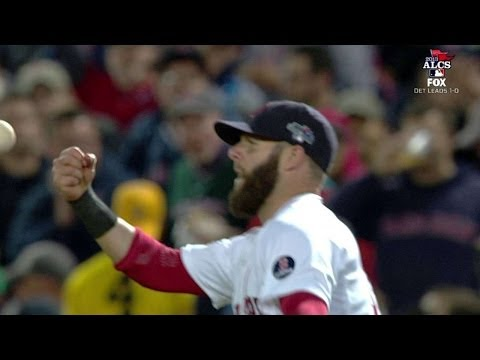 ALCS Gm2: Pedroia drops ball throwing around the horn