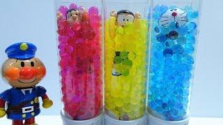 Doraemon,Nobita and Gian go into the Orbeez Spo Spo!Crush Sweet Treats Studio!for kids!yupyon