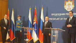 Konferencija za medije Vučić - Putin
