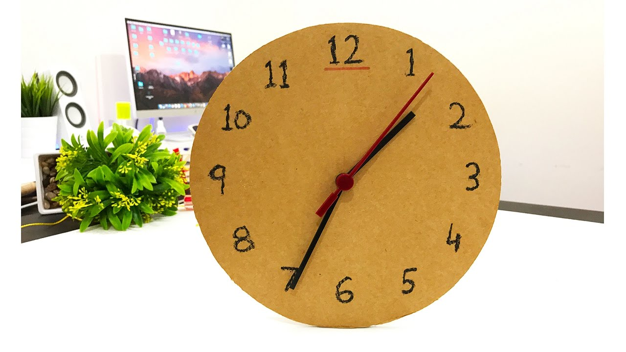 how to make 1 wall clock or table clock from cardboard mrexpert