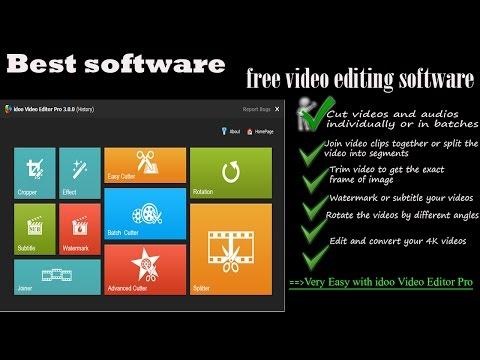 free video editing software | idoo Video Editor Pro 3.0.0