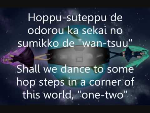 World's End Dancehall: Miku and Luka: English / Romanji Lyrics