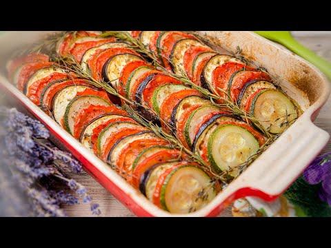 ЗАПЕЧЕННЫЕ ОВОЩИ 🍆 кабачки, баклажаны, помидоры 🍅 ОВОЩНОЙ ТИАН - рецепт блюда из овощей / РАТАТУЙ