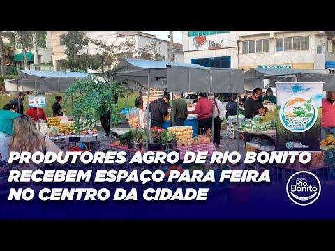 PRODUTORES AGRO DE RIO BONITO RECEBEM ESPAÇO PARA FEIRA NO CENTRO DA CIDADE