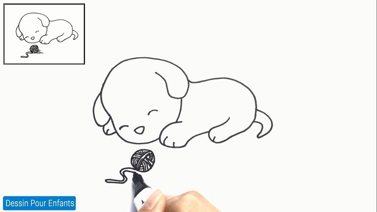 Comment dessiner un chien FACILEMENT etape par etape 22 – Dessin chien