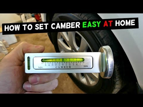 HOW TO USE CHEAP CAMBER TOOL | HOW TO SET CAMBER