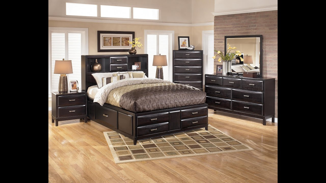 Ashley Furniture Ledelle Bedroom Set - YouTube