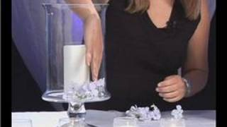 Wedding Centerpieces : Filling a Wedding Centerpiece Vase