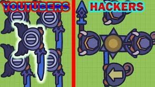 Moomoo.io Hackers vs YouTubers - Moomoo.io YouTuber Squad (eXistenZ, Jhonxay, Cacti Fin, LightThief)
