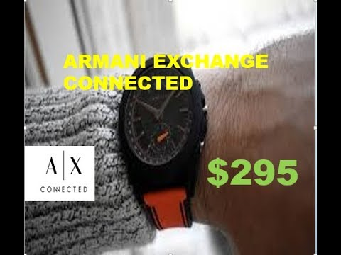 93f85d61190 Armani Exchange Connected is brand s first touchscreen smartwatch ...