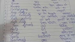 Y pr meaning and hindi translation