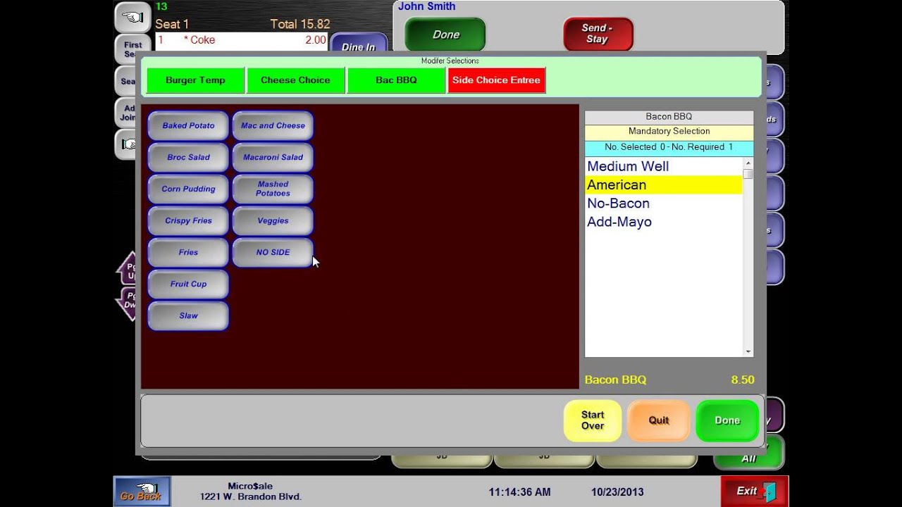 Table Restaurant POS System   MicroSale POS Systems
