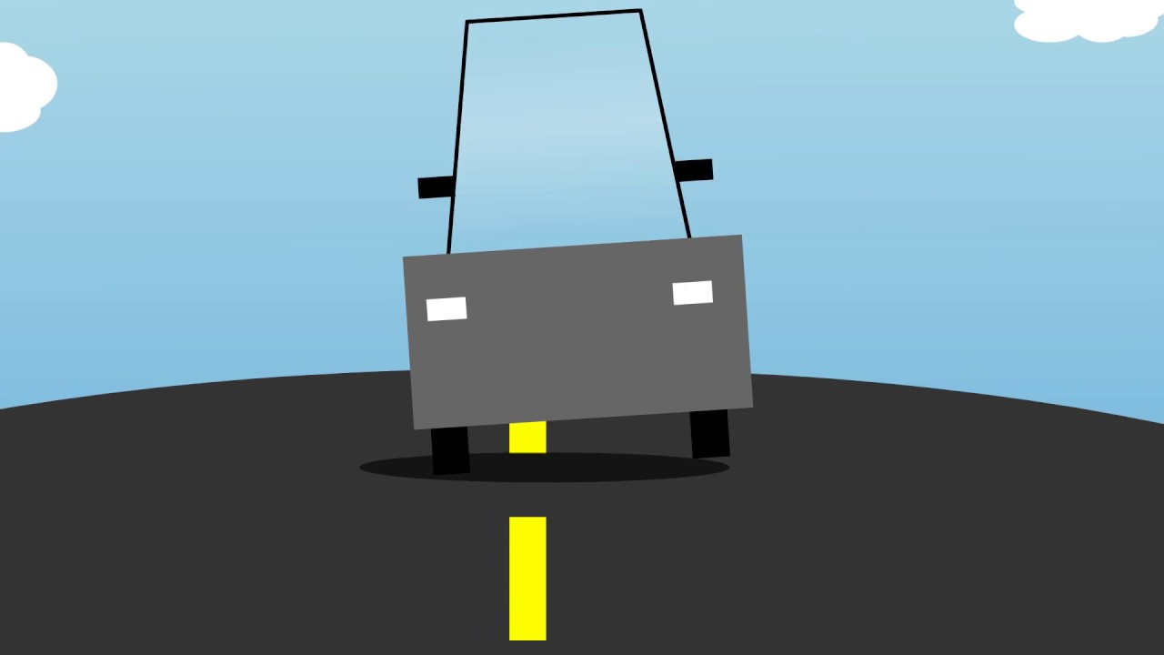 Drunk Driving Ghost Car 2d Flash Animation Youtube