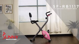 SF-RB1117 Folding Recumbent Bike by Sunny Health and Fitness