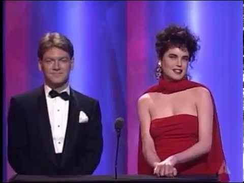 Elizabeth Mcgovern & Kenneth Branagh present winners in Makeup at 62nd Annual Academy Awards